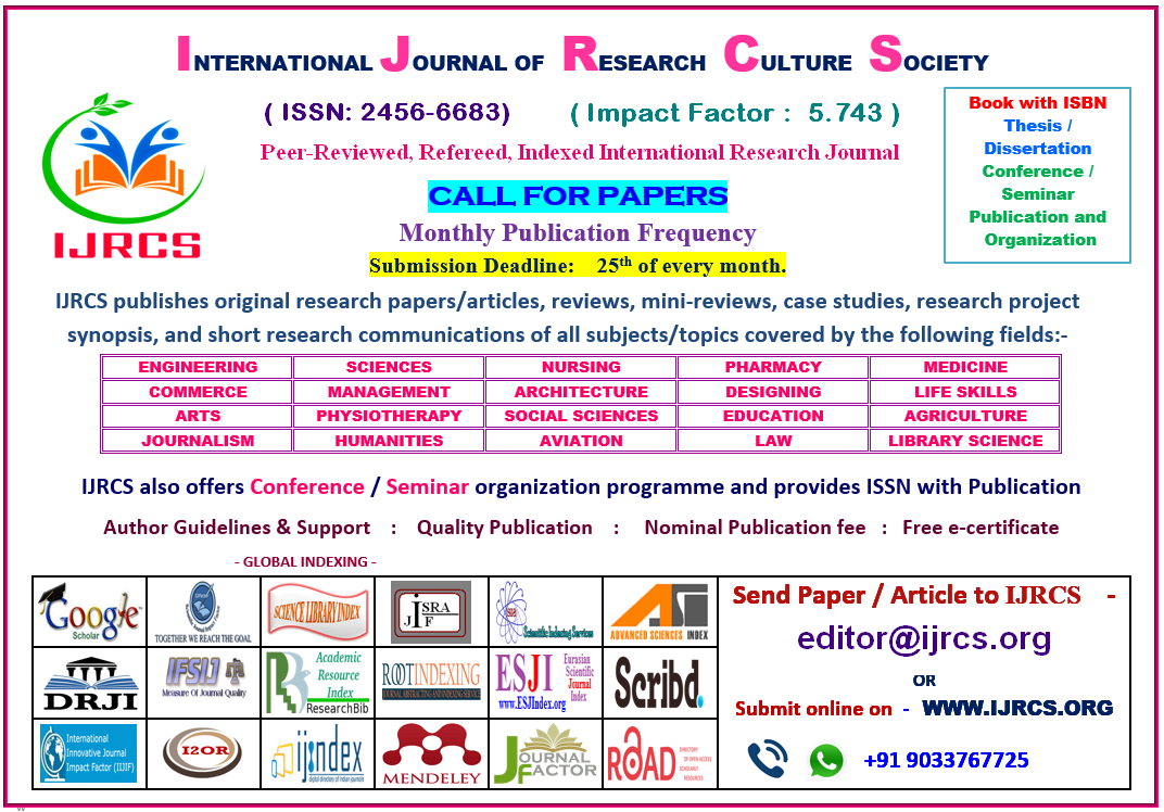 Home - INTERNATIONAL JOURNAL OF RESEARCH CULTURE SOCIETY