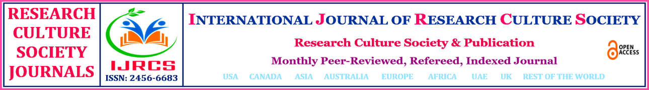INTERNATIONAL JOURNAL OF RESEARCH CULTURE SOCIETY     (IJRCS)   ISSN: 2456-6683